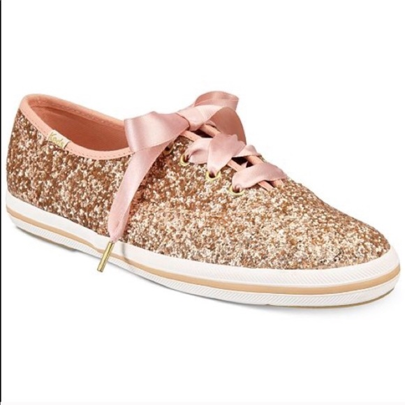 c9943559fded kate spade Shoes - Keds Kate Spade Rose Gold Glitter Sneakers